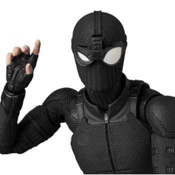 Spider-Man Upgrades to the Stealth Suitwith New MAFEX Figure