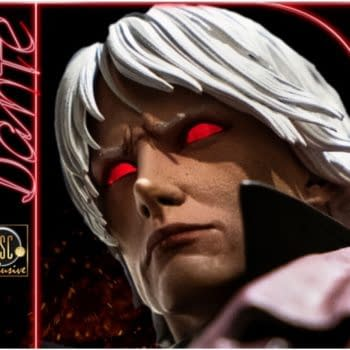 """Dante Sees Red in New """"Devil May Cry"""" Statue from Darkside Collectibles"""