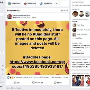 Valiant Bans Mention Of Bad Idea On Facebook