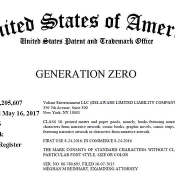 Will Valiant Sue DC Comics Over Generation Zero Trademark
