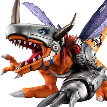 Digimon Returns with MetalGreymon Statue from Megahouse