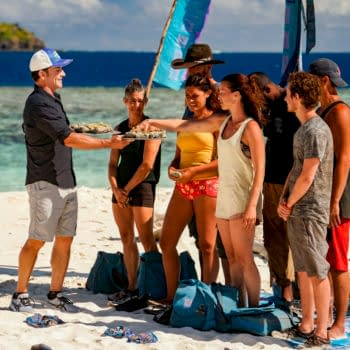 """""""The Buddy System on Steroids"""" - Jeff Probst, Denise Stapley, Ben Driebergen, Michele Fitzgerald, Parvati Shallow, Jeremy Collins, Adam Klein and Boston Rob Mariano on the Fifth episode of SURVIVOR: WINNERS AT WAR, airing Wednesday, March 11 (8:00-9:01 PM, ET/PT) on the CBS Television Network. Photo: Robert Voets/CBS Entertainment ©2020 CBS Broadcasting, Inc. All Rights Reserved"""