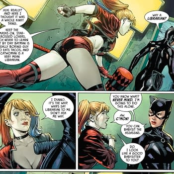 Harley Quinn Thinks Catwoman is a Librarian &#8211 Does She Have A Point (Batman #91 Spoilers)