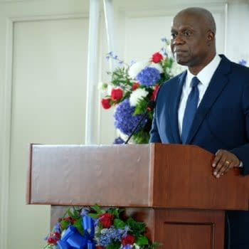 """BROOKLYN NINE-NINE -- """"Ding Dong"""" Episode 707 -- Pictured: Andre Braugher as Raymond Holt -- (Photo by: John P. Fleenor/NBC)"""