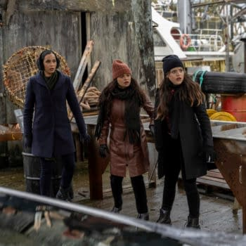 """Charmed -"""" Third Time's the Charm""""- -- Image Number: CMD215A_0237b -- Pictured (L - R): ÊMadeleine Mantock as Macy Vaughn, Melonie Diaz as Melanie Vera, and Sarah Jeffery as Maggie Vera. -- Photo: Colin Bentley/The CW -- © 2020 The CW Network, LLC. All Rights Reserved."""
