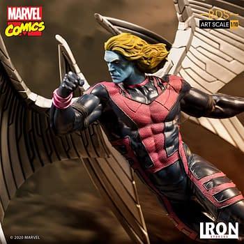 The X-Men Archangel Soars with New Iron Studios Statue