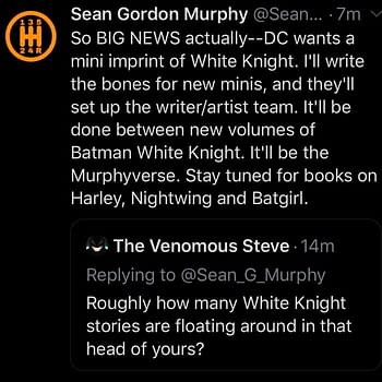 Sean Gordon Murphys The White Knight Returns&#8230 With New Creative Teams for the Murphyverse