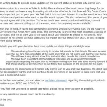 ECCC Reportedly Now Offering Refunds to Artist Alley Exhibitors as Coronavirus Fears Continue