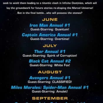 Marvel Infinity Stones Summer Annuals, With Star, Amulet, Quantum, Overtime, White Fox, Prince Of Power, Spirit of Corruption and Phil Coulson – Agent of Mephisto