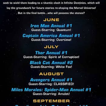 Marvel Infinity Stones Summer Annuals With Star Amulet Quantum Overtime White Fox Prince Of Power Spirit of Corruption and Phil Coulson &#8211 Agent of Mephisto