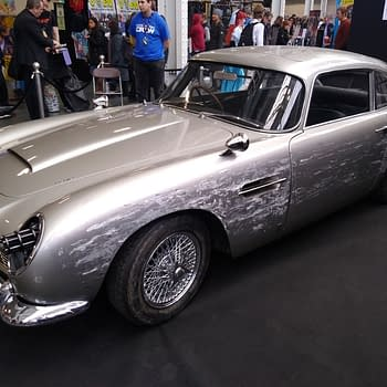 James Bonds No Time To Die Aston Martin DB5 at London Film and Comic Con