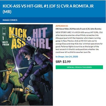 Its Kick-Ass Vs Hit-Girl From Steve Niles and Marcelo Frusin in June