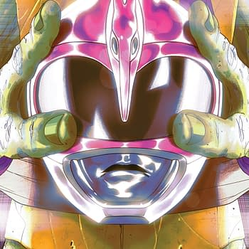 Say Cowabunga for Corporate Synergy with this Penultimate Preview of Power Rangers/TMNT #4