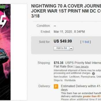 Insanely, Nightwing #70 Hits $50 on eBay – Are We Going to Do This Again?
