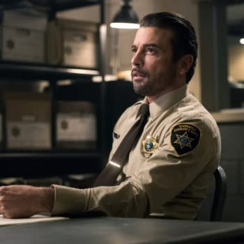 """Riverdale -- """"Chapter Seventy-Two: To Die For"""" -- Image Number: RVD414b_0233b.jpg -- Pictured: Skeet Ulrich as FP Jones -- Photo: Dean Buscher/The CW -- © 2020 The CW Network, LLC. All Rights Reserved."""