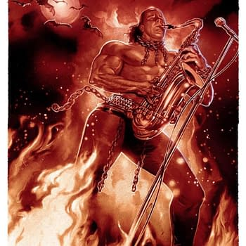 Sax Man From The Lost Boys Bottleneck Gallery Print is Amazing