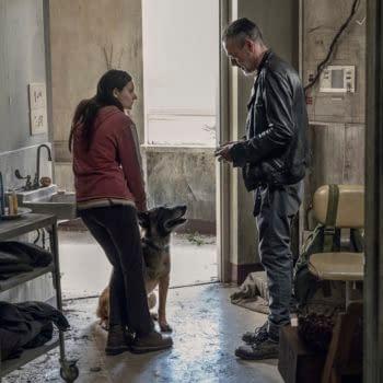 Cassady McClincy as Lydia, Jeffrey Dean Morgan as Negan- The Walking Dead _ Season 10, Episode 15