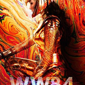 New Wonder Woman 1984 Poster is Golden and Psychedelic