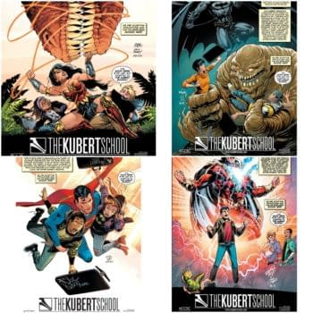 All the Kubert School Ads Appearing on DC Comics Covers This Month
