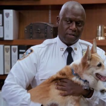 Holt and Cheddar spend some quality time together on Brooklyn Nine-Nine, courtesy of NBC.