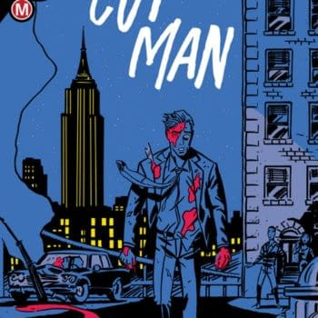 The cover of Cut Man #1 with the creative team Alexander Banks-Jongman, Robert Ahmad, and DC Hopkins and published by Danger Zone/Action Lab Entertainment.