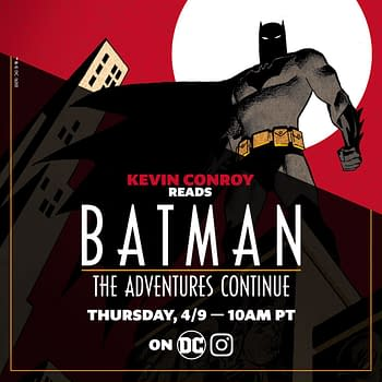 The Graphic for Kevin Conroy Reading Batman: The Adventure Continues on DC's Instagram.