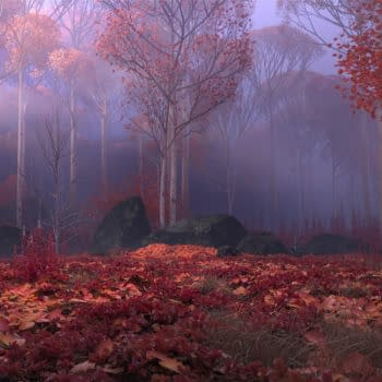 The Forbidden Forest from Frozen 2.