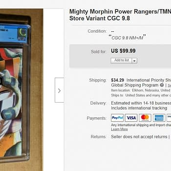 Speculators Dropping $100 on Mighty Morphin Power Rangers/TMNT#3