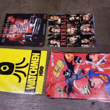 Comic con bags, as material for new accessories.