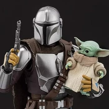The Mandalorian and The Child Getting S.H. Figuarts Figures