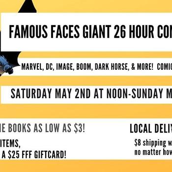 Famous Faces &#038 Funnies Replaces FCBD With 26-Hour Facebook Auction