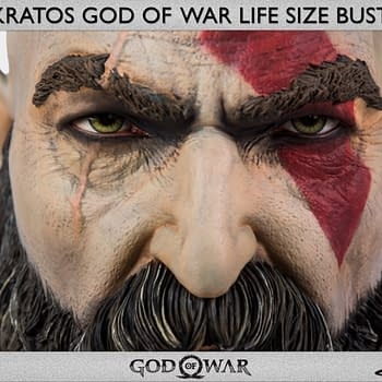 God of War Kratos Goes Life Size with Gaming Heads Bust