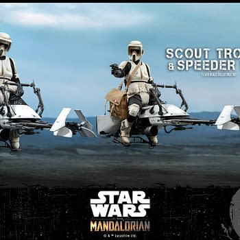 The Mandalorian Scout Troopers Catch The Child with Hot Toys