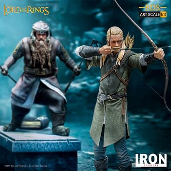 Lord of the Rings Legolas Stands Guard with Iron Studios