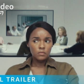 Jackie isn't sure she's in the right room in Homecoming, courtesy of Amazon Prime.