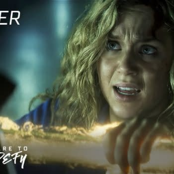 Courtney learns to control the cosmic staff in Stargirl, courtesy of The CW