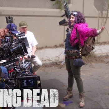 A look at Princess behind the scenes of The Walking Dead, courtesy of AMC.