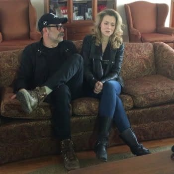 Jeffrey Dean Morgan and his wife Hilarie Burton Morgan host Friday Night In with The Morgans, courtesy of Astor Services.