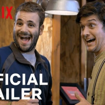 Wilheim and Adam are nervous about the tasting on Brews Brothers, courtesy of Netflix.