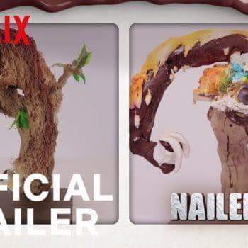 Nailed It presents another before/after baking disaster, courtesy of Netflix.