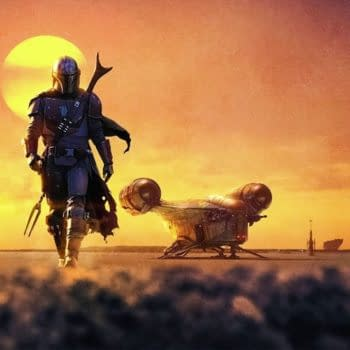 A look at poster key art from The Mandalorian, courtesy of Disney+.
