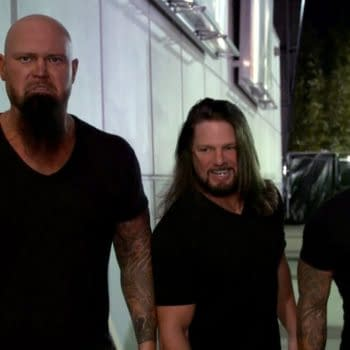 AJ Styles, Gallows, and Anderson attack The Undisputed ERA before NXT, courtesy of WWE.