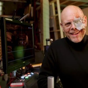 Alton Brown proves cooking can be a full-contact sport on Good Eats: Reloaded, courtesy of Cooking Channel.