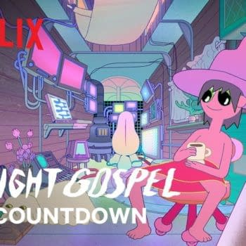Clancy begins reaching out to other voices in The Midnight Gospel, from Adventure Time creator Pendleton Ward and comedian Duncan Trussell, courtesy of Netflix.