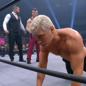 Cody Rhodes takes 10 lashes from MJF on Dynamite, courtesy of AEW.