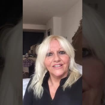 Camille Coduri offers words of hop to Doctor Who fans, courtesy of BBC Studios.