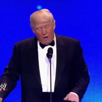 Donald Trump cements his WWE legacy at the 2013 WWE Hall of Fame Induction Ceremony, courtesy of WWE.