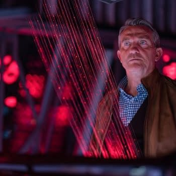 Graham has a moment with the Doctor on Doctor Who, courtesy of BBC Studios.