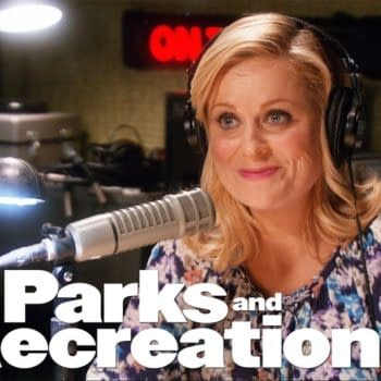 Leslie sends out a signal on Parks and Recreation, courtesy of NBCUniversal.