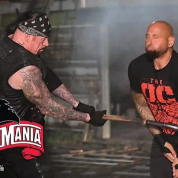 It's AJ Styles and The OC taking on The Undertaker in a Boneyard Match, courtesy of WWE.